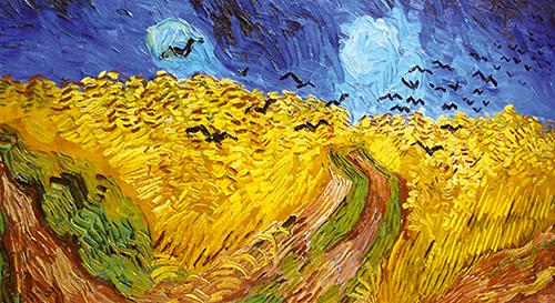 Vincent van Gogh, kornmark, udsnit