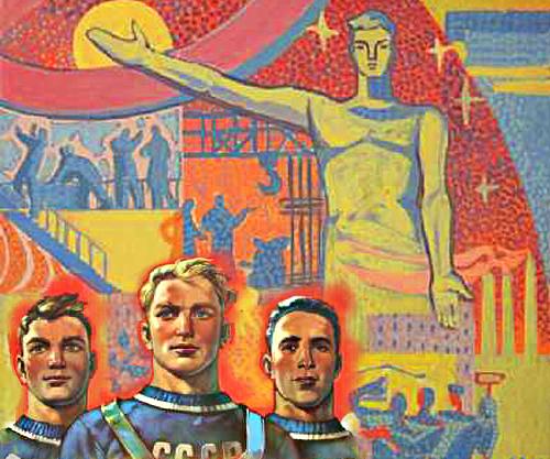 Kollage af russiske plakater fra Sovjettiden