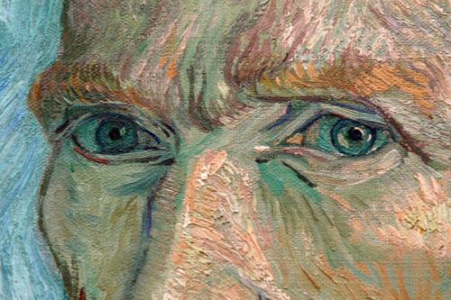 Vincent vanGogh selfportræt, udsnit