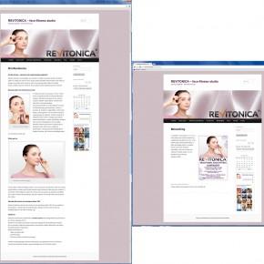 Hjemeside til REVITONICA.DK – face-fitness studio