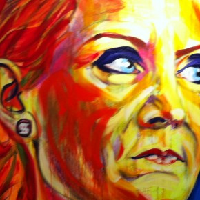 Helle Thorning-Schmidt, maleri af Lars kræmmer, udsnit