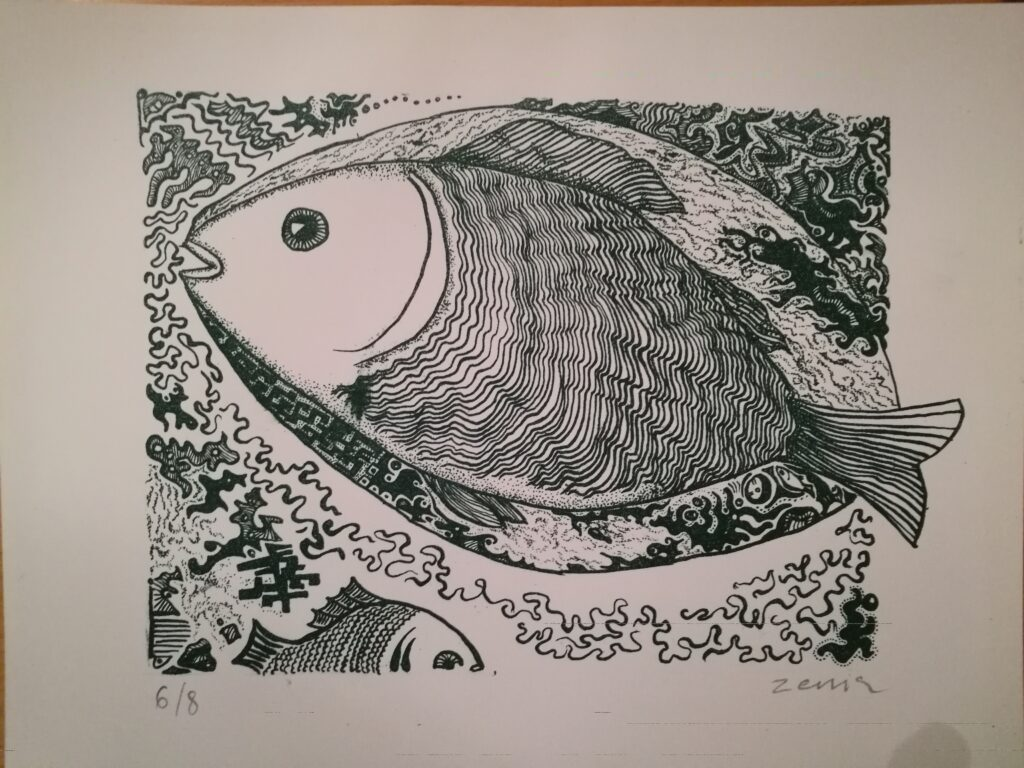 litografi Fisk